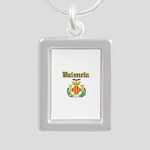 Valencia City Designs Silver Portrait Necklace