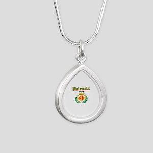 Valencia City Designs Silver Teardrop Necklace