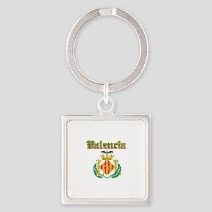 Valencia City Designs Square Keychain