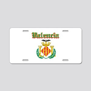 Valencia City Designs Aluminum License Plate