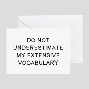 Do Not Vocab Greeting Card