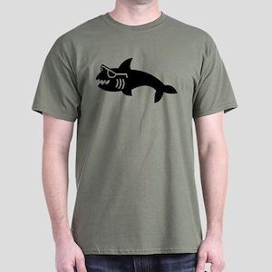 Hipster Shark Dark T-Shirt
