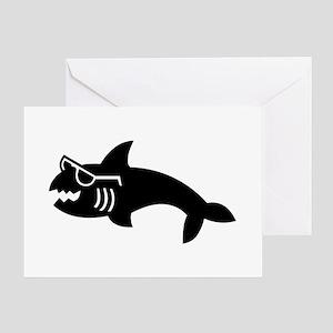Hipster Shark Greeting Card