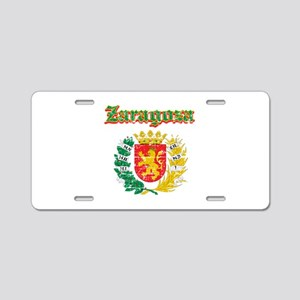 Zaragoza City Designs Aluminum License Plate