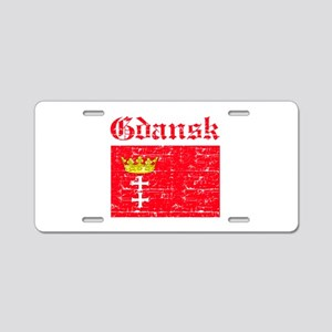 Gdansk flag designs Aluminum License Plate