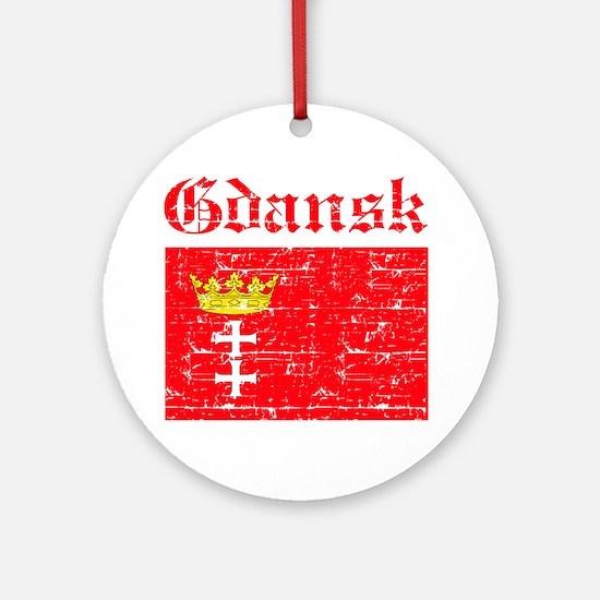 Gdansk flag designs Ornament (Round)