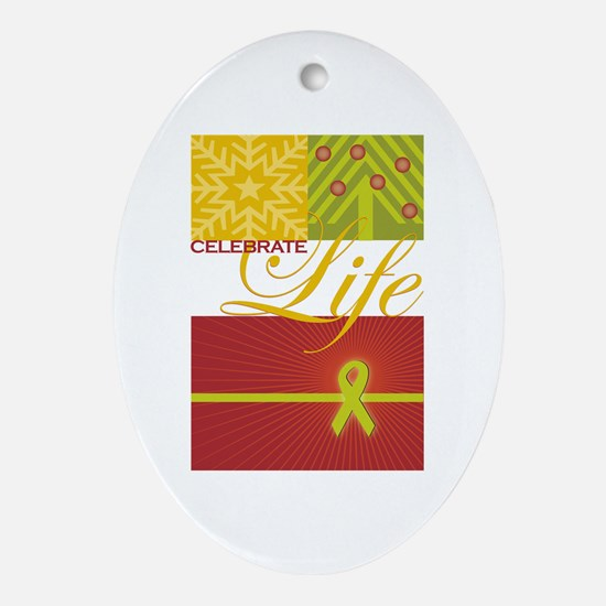 Celebrate Life Holiday Collection Oval Ornament