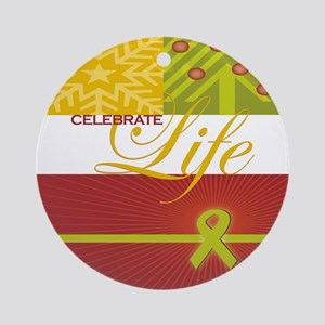 Celebrate Life Holiday Collection Round Ornament
