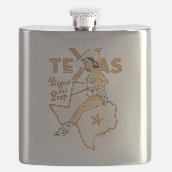 Vintage Texas Pinup Flask