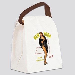 Vintage New York Pinup Canvas Lunch Bag