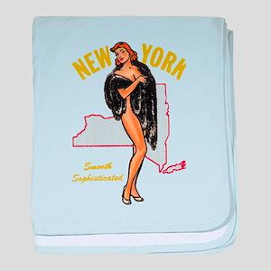 Vintage New York Pinup baby blanket
