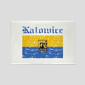 Katowice flag designs Rectangle Magnet