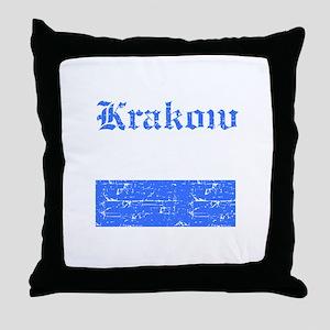 Krakow flag designs Throw Pillow