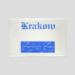 Krakow flag designs Rectangle Magnet