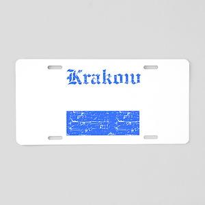 Krakow flag designs Aluminum License Plate