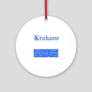 Krakow flag designs Ornament (Round)