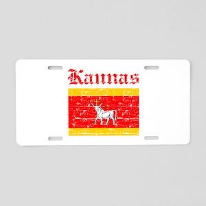 Laspalmas flag designs Aluminum License Plate