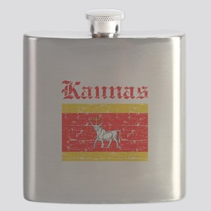 Laspalmas flag designs Flask