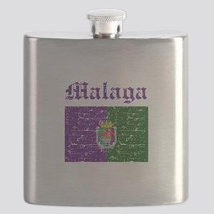 Malaga flag designs Flask