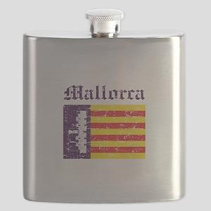 Mallorca flag designs Flask