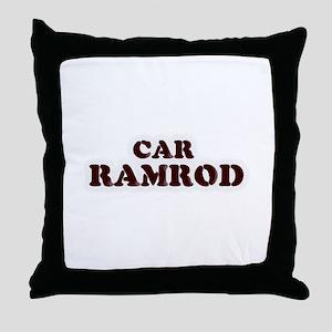 Car Ramrod Throw Pillow