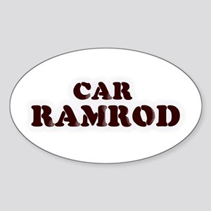 Car Ramrod Oval Sticker