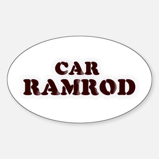 Car Ramrod Oval Decal