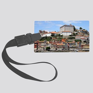 Historic buildings and river, Po Large Luggage Tag