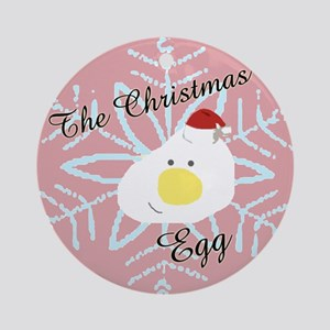 The Christmas Egg Ornament (Round)