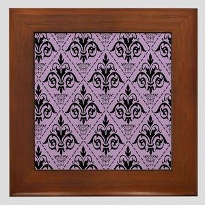 Black & African Violet #29 Framed Tile