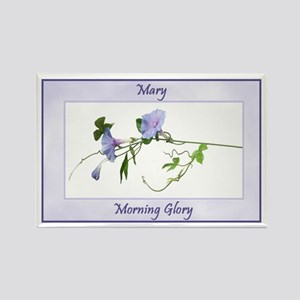 Mary's Personalized Morning Glory Kitchen Magnet