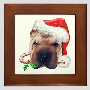 Shar-Pei Christmas Framed Tile