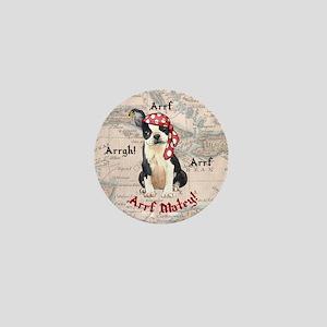 Boston Terrier Pirate Mini Button