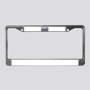 Historic buildings and river, License Plate Frame
