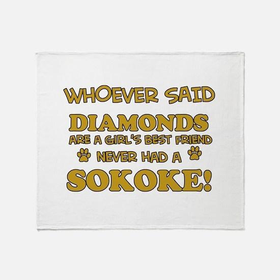 Sokoke cat lover design Throw Blanket