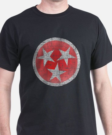 Aged Red Tennessee T-Shirt
