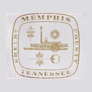 Vintage Memphis Throw Blanket