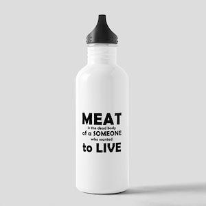 Meat is a dead body! Water Bottle
