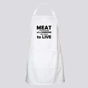 Meat is a dead body! Apron