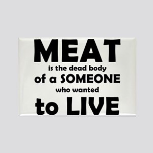Meat is a dead body! Rectangle Magnet