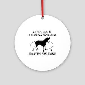 Black Tan Coonhound merchandise Ornament (Round)