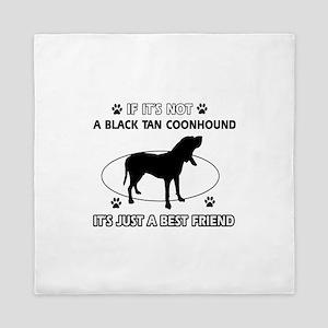 Black Tan Coonhound merchandise Queen Duvet