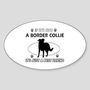 Border Collie merchandise Sticker (Oval)