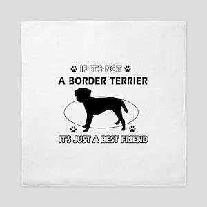 Border Terrier merchandise Queen Duvet