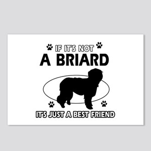 Briard merchandise Postcards (Package of 8)