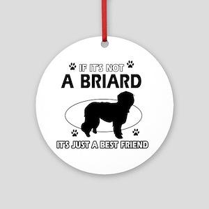 Briard merchandise Ornament (Round)