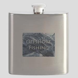 Offshore Fishing Tuna Logo Flask