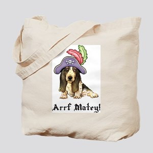 Basset Pirate Tote Bag