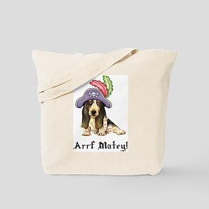 Basset Pirate Tote Bag