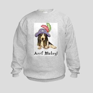 Basset Pirate Kids Sweatshirt
